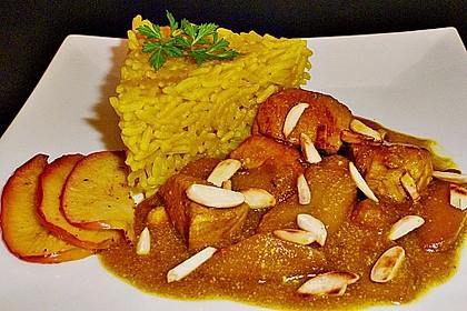 Hähnchen - Curry mit Äpfeln 1