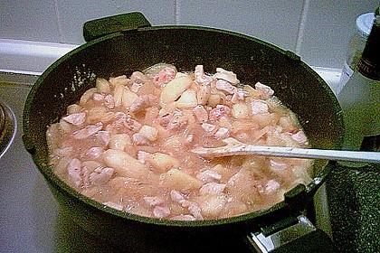 Hähnchen - Curry mit Äpfeln 8