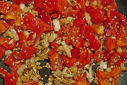 Fruchtige Paprika - Rahm - Soße 11