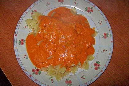 Fruchtige Paprika - Rahm - Soße 10