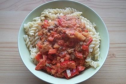 Fruchtige Paprika - Rahm - Soße 12