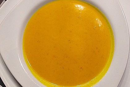 Kürbissuppe mit Kürbiskernöl 9