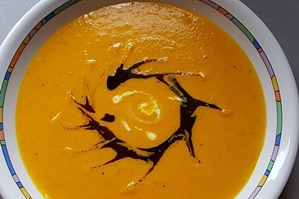 Kürbissuppe mit Kürbiskernöl 2