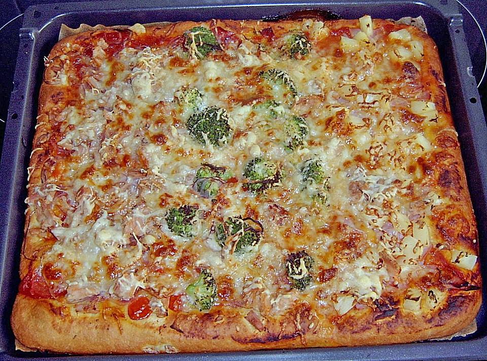 Chefkoch pizza quark ol teig