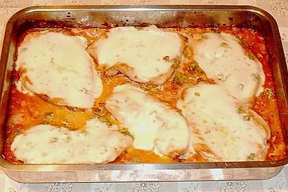 Putenschnitzel mit Mozarella 6