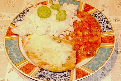 Putenschnitzel mit Mozarella 9