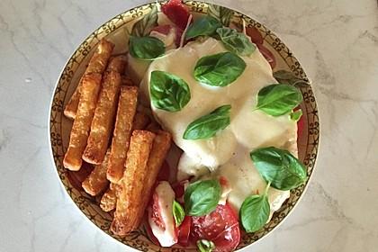 Putenschnitzel mit Mozarella 2