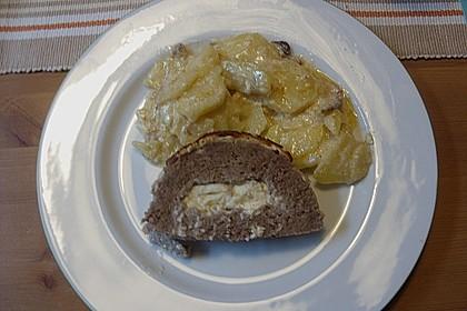 Hackbraten mit Kartoffeln in Sahne 69