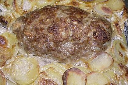 Hackbraten mit Kartoffeln in Sahne 49