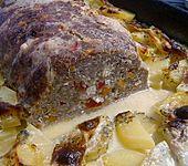 Hackbraten mit Kartoffeln in Sahne (Bild)