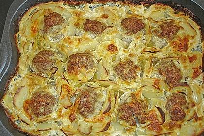 Hackbraten mit Kartoffeln in Sahne 15