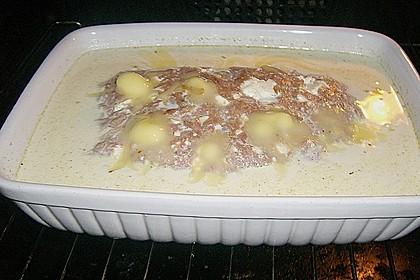 Hackbraten mit Kartoffeln in Sahne 75