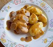 Hähnchenbrust mit Champignon - Sauce (Bild)