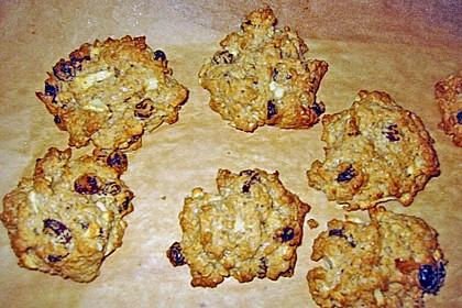 Apfel - Rum - Rosinen Cookies 14