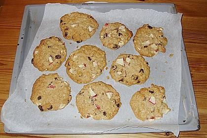 Apfel - Rum - Rosinen Cookies 7