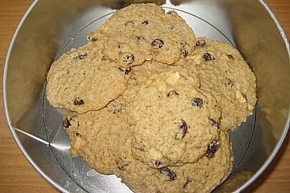 Apfel - Rum - Rosinen Cookies 18