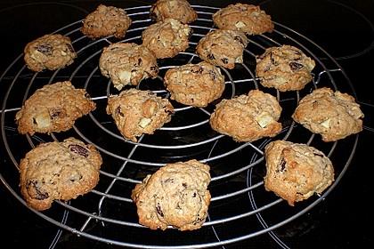 Apfel - Rum - Rosinen Cookies 3