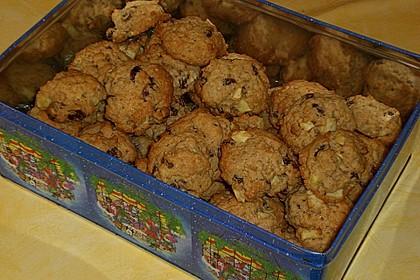 Apfel - Rum - Rosinen Cookies 6
