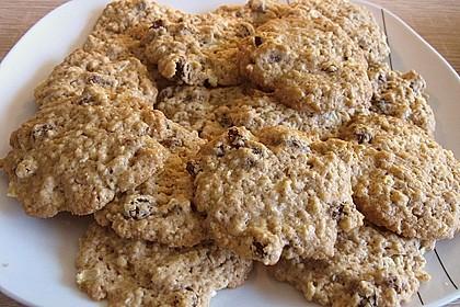Apfel - Rum - Rosinen Cookies