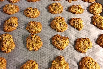 Apfel - Rum - Rosinen Cookies 4