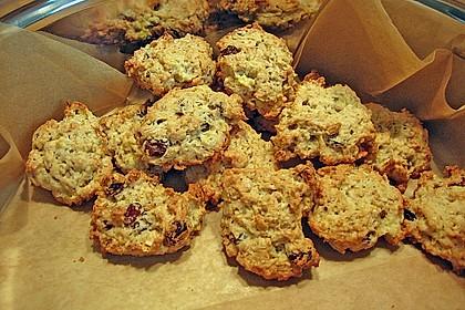 Apfel - Rum - Rosinen Cookies 9