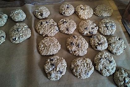 Apfel - Rum - Rosinen Cookies 1