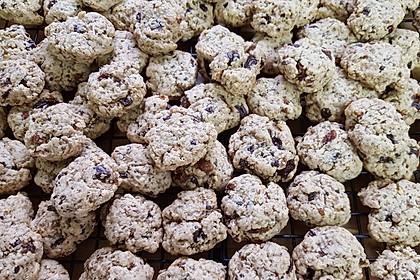 Apfel - Rum - Rosinen Cookies 2