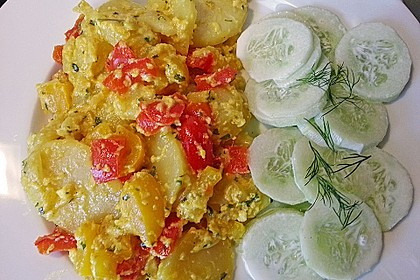 Kartoffel - Paprika Pfanne mit Käse überbacken 1