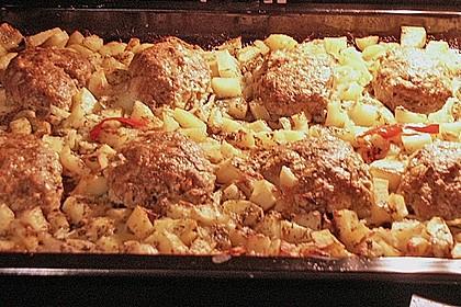 Hackbraten im Kartoffelbett 14