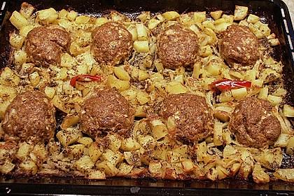 Hackbraten im Kartoffelbett 1