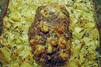 Hackbraten im Kartoffelbett 13