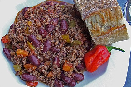 Chile con carne de la casa