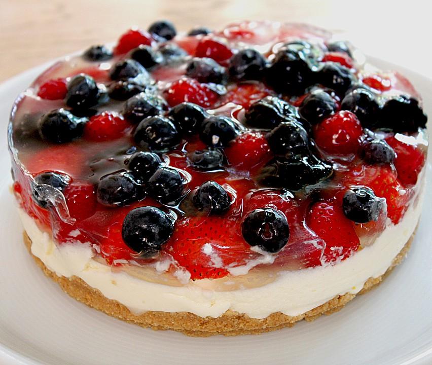 Torte Mit Früchten : joghurt sahne torte mit frischen fr chten rezept mit ~ Lizthompson.info Haus und Dekorationen