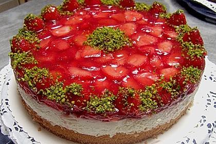 Kuchen mit frischen fruchten