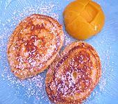 Quarkpuffer mit Pfirsichen