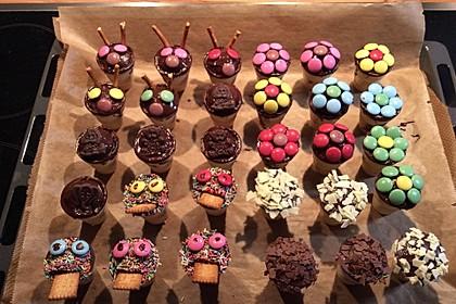 Kleine Kuchen im Waffelbecher 316