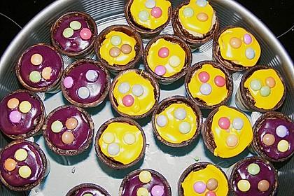 Kleine Kuchen im Waffelbecher 315