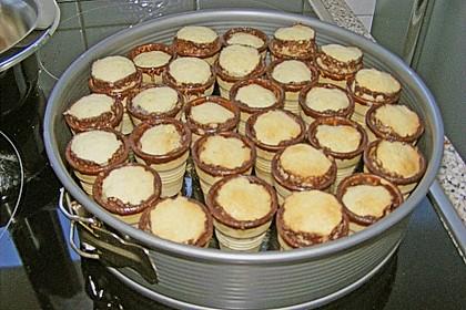 Kleine Kuchen im Waffelbecher 410