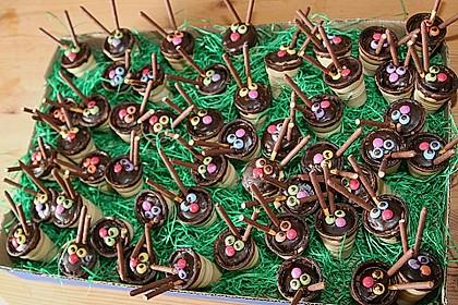 Kleine Kuchen im Waffelbecher 28