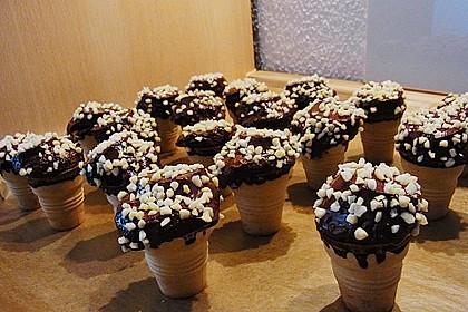 Kleine Kuchen im Waffelbecher 255