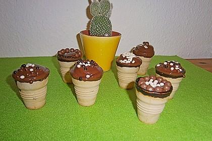 Kleine Kuchen im Waffelbecher 341