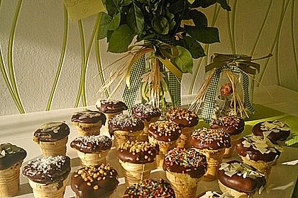 Kleine Kuchen im Waffelbecher 167