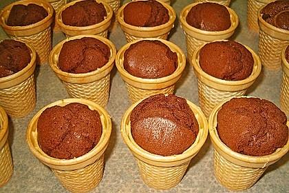 Kleine Kuchen im Waffelbecher 183