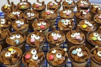 Kleine Kuchen im Waffelbecher 165