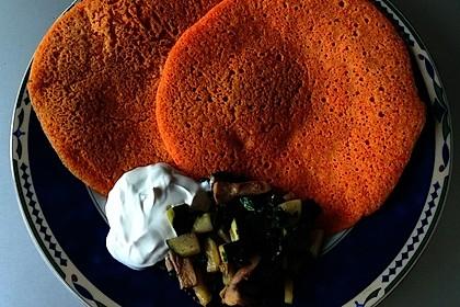Pfannkuchen aus roten Linsen 7