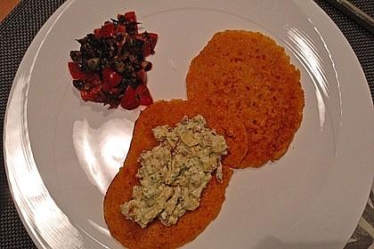 Pfannkuchen aus roten Linsen 8
