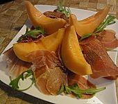 Melone mit  Parmaschinken (Bild)