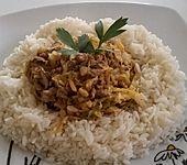 Spitzkohl-Champignon-Hack-Pfanne mit Reis