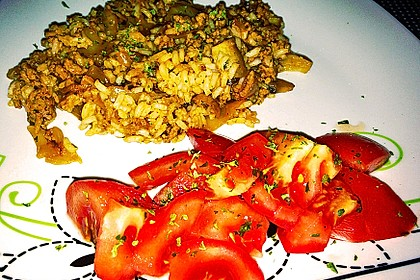 Spitzkohl-Champignon-Hack-Pfanne mit Reis 14