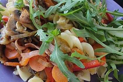 Vegetarische Nudelpfanne mit Schafskäse 2